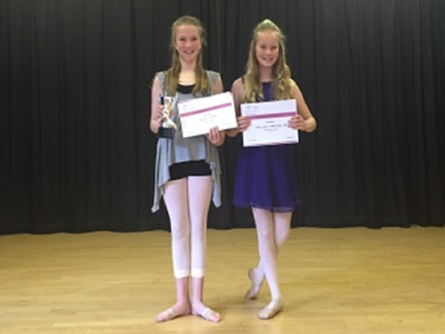Choreography Competition 2016 Joint Winners  Overall Winner; Anna Casey (left) Best Entertainment; Tallulah Hamilton-Barr (right)